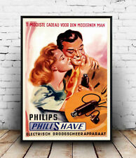 Philishave, Old Dutch Shaver poster Reproduction poster, Wall art.