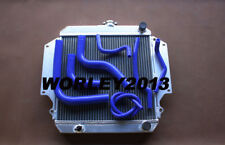 Aluminum radiator + Blue hose for SUZUKI SIERRA 1.0L 1.3L SJ410/413 1981-1996 MT