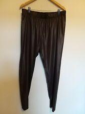 Ladies Size 22/24 La Redoute Brown Faux Leather Leggings <LR1016