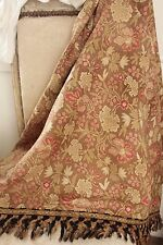 Antique French Fabric cretonne 1880 brown Arts and Crafts material upholstery