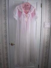 Vintage Bridal Peignoir Set From 1980's Beautiful Lace and Sheer Size Large