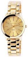 Excellanc Damenuhr Gold Strass Analog Metall Quarz Armbanduhr D-180504000040