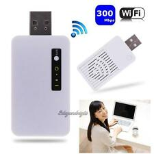 300Mbs Wireless Mini USB WiFi Repeater Network Router Signal Range Extender NEW