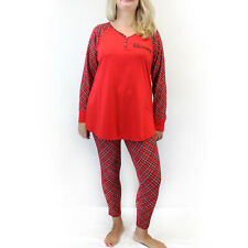 """Cacique by Lane Bryant Plus Red """"Naughty"""" Christmas Pajamas Size 18/20"""