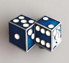 BLUE DICE LUCKY BELT BUCKLE CRAPS GAMBLER CASINO VEGAS BABY FIT SNAP BELT