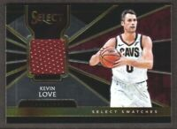 2018-19 Select Basketball Swatches Jersey #SS-KL Kevin Love Cleveland Cavaliers