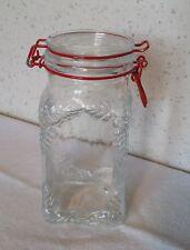 Bocal 1,5 litre en verre Le Pratique déco en reliefs