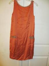 WOMENS DAY BIRGER ET MIKKELSEN ORANGE BEADED DRESS SIZE 36