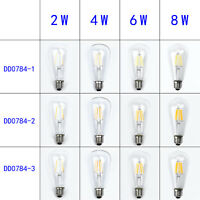 Filament Led E27 Retro 2-8w Vintage Dimmable Bulb Light St64 Edison 2/4/6/8w