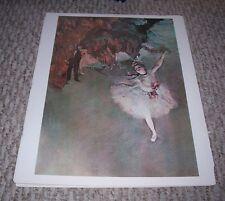 """Ballet """"DANCER ON STAGE"""" Edgar Degas French Impressionist Color Print"""