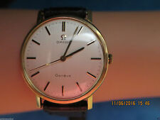 Men's Omega Geneve Solid Gold Case Wristwatches