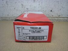 New P&S TR5351W 20A 125V TR Tamper Resistant Single Receptacle White Box of 10