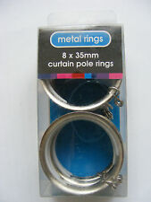 Curtain Rail Rings SPEEDY 35mm Satin Silver x 8