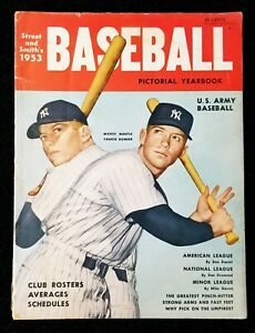 1953 Mickey Mantle Street & Smith's Pictorial Yearbook Vintage Magazine GD-VG