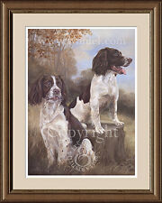 SPRINGER SPANIELS fine art limited edition dog print by Lynn Paterson