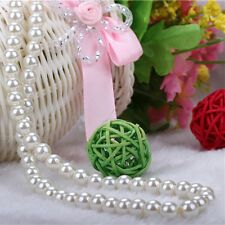 Hot Women White 8mm 40cm Faux Pearl Beads Chunky Cluster Bib Necklace Pendants