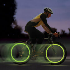 2 x VERDE BICI BICICLETTA CICLISMO RUOTA ha parlato di filo pneumatico Bright LED luce flash