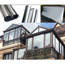 Hot PET Window Film Mirror Silver Insulation Stickers Solar Reflective 200x50cm