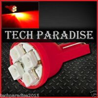 10x Ampoule T10 / W5W / W3W LED 4 SMD 3528 Rouge Red veilleuse lampe light 12V