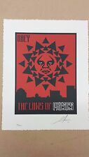 Shepard Fairey Obey The Laws of Physics Letterpress Giant Obama Hope Progess