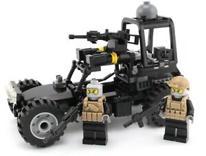 Desert Patrol Navy SEAL special forces vehicle made with real LEGO® bricks