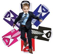 Berlioni Italy Chicos Dos Tonos Niños Niños Pequeños Vestido Camisa Con Corbata & Pañuelo Conjunto