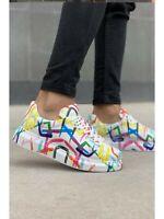 Chekich CH255 Sneakers Colorful Ring | Graffiti Schuhe | Turnschuhe | Mehrfarbig