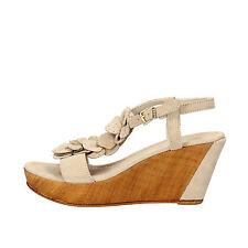 scarpe donna KEYS 38 sandali beige camoscio AG792-E