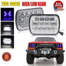 "Pair 105W 7X6"" 5x7"" LED Headlights For Chevrolet Jeep Cherokee XJ Wrangler YJ"