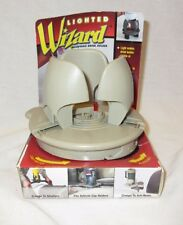 1999 NOS Lighted Wizard Adjustable Cup Drink Holder Tan Vehicle Clamp Hold 64 Oz