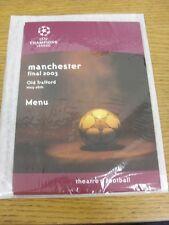 28/03/2003 europea/FINALE CHAMPIONS LEAGUE: JUVENTUS V AC Milan [a Manchester U