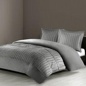 N Natori 4 Piece Bedding Set - FULL/QUEEN (Silver) 141312 *DISTRESSED PKG*