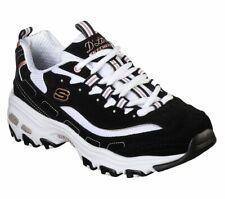 Skechers D'lites Black Gold shoes Women Sporty Memory Foam Casual Comfort 13154