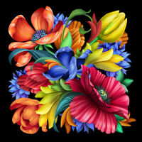 "40W""x40H"": BOTANICAL FLORAL BOUQUET by ANGELA MARITZ - CHOICES of CANVAS"