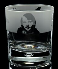 More details for abba - engraved whisky tumbler glass | gift - present