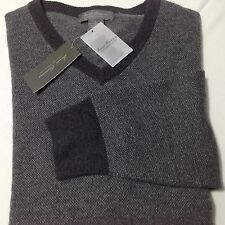 Cremieux Signature Wool/Cashmere Charcoal Zegna Quality Men Sweater XXL NWT$195
