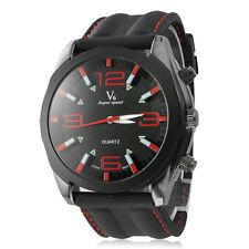 NEW Luxury V6 Big Dial Silicone Band Super Speed Analog Quartz Sport Men Watch