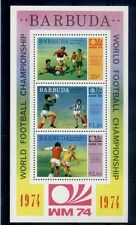 FOOTBALL Barbuda 1 bloc de 1974 - FUSSBALL FÚTBOL CALCIO