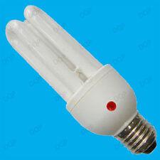 3x 15w Bajo Consumo Cfl Dusk Dawn Sensor Fotocelda Bombilla es E27 de seguridad de la lámpara