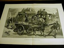 J. Charton HORSE & BUGGY Newspaper Carriage DONKEY CART Collision 1890 Engraving