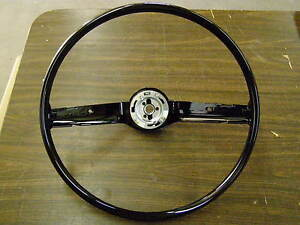 New Repro. 1968 1969 Ford Mustang Fairlane Torino Galaxie Steering Wheel Black