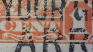 SC#162i major re-entry - 1c orange KGV Arch Issue