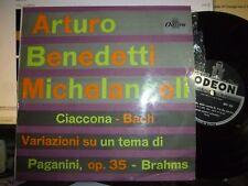 "ARTURO BENEDETTI MICHELANGELI 10"" ODEON QBLP 1044, ITALY, BACH, BRAHMS NM/VG+"