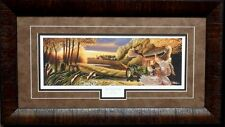 Mike Flentje The old Deer Trail with Pheasants and John Deere Print-Framed