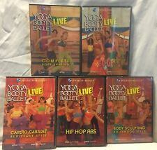 5 Yoga Booty Ballet Live DVD lot, bollywood go-go burlesque hip hop abs workout
