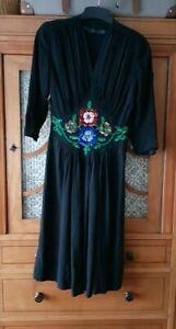 Kleid 40er Jahre Vintage original xs