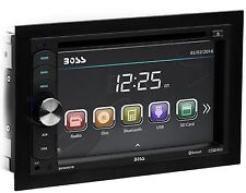 "Boss Car Stereo Bluetooth 6.2"" LCD DVD CD Player AMFM USB/SD AUX Remote Rear Cam"