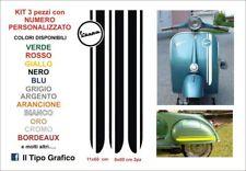 Kit Adesivi Vespa Strisce logo 3 pezzi Vintage scooter Sticker Decals Stripes