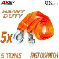 5 x 5 TONNE 5T 5000kg 3.5M Tow Towing Pull Rope Strap Heavy Duty Road Recovery