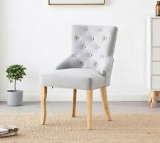 Kensington de Bucles Tela Silla Comedor Victoria Adorno Diseño Moderno Silla